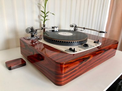 Garrard 301 Twin Tonearm Version Plinth